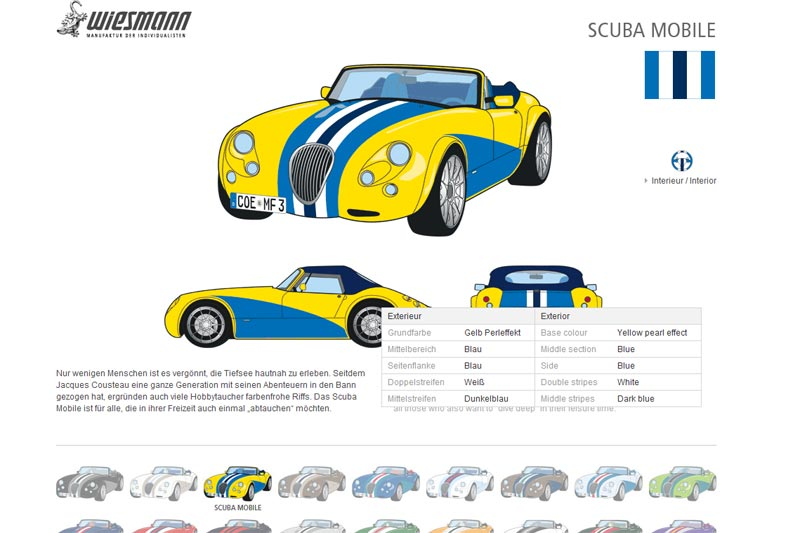 Wiesmann MF3 Roadster Scuba Mobile