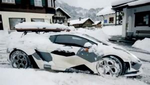 Jon Olsson Lamborghini Gallardo im Schnee
