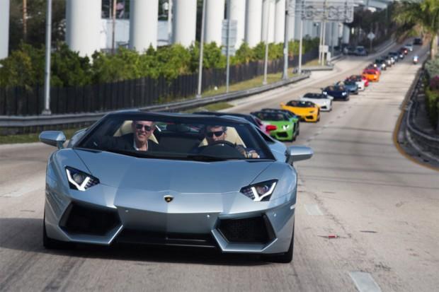 Lamborghini Aventador Roadster in Miami
